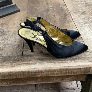 YSL vintage satin shoes with crystals size 6.5